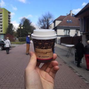 Káva so sebou v Marco Restaurant v Poprade
